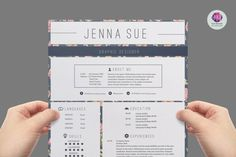 Vintage resume template  cover letter template  by ChicTemplates