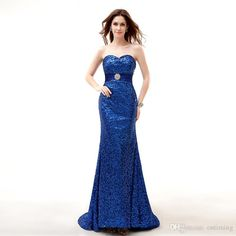 9be94a249dc81 Gorgeous Couture Blue Sequins Sexy Long Designer  Prom Dresses  Sleeveless  Sash Back Lace Up