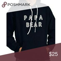 Papa Bear Hoodie Light weight sweater 65% cotton 35% Polyester Sweaters