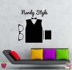 Wall Stickers Vinyl Decal Hipster Nerdy Style High Fashion Glasses (z2010)