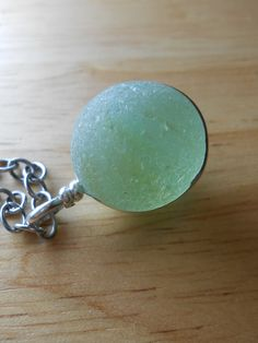 Moonstruck - Sea Glass Jewelry - Antique Seaglass Marble Necklace.