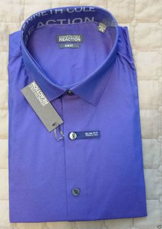 Kenneth Cole Reaction men Slim Fit dress #shirt 16.5 - 32/33 Sapphire Color NWT KennethCole visit our ebay store at  http://stores.ebay.com/esquirestore