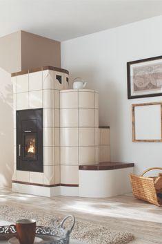 Nach Hause kommen, den Kachelofen anmachen und die angenehme Strahlungswärme genießen – sofort und später, im Aufstellraum des Ofens und im ganzen Haus. Der moderne Heizeinsatz DIAMANT W, eine Kombination von Speicher- und Wassertechnik, lässt keine Wünsche offen und passen sich jeder Wohnsituation perfekt an. Dream Decor, Stoves, Modern, Dreams, Design, Home Decor, Heating Systems, Fireplace Heater, Products