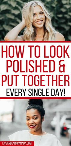 How To Look Polished and Put Together: 15 Ways to Look Polished Simple Makeup Tips, Thick Brows, Put Together, Singles Day, How To Make Hair, Beauty Hacks, Beauty Tips, Hair Ties, Hair Looks