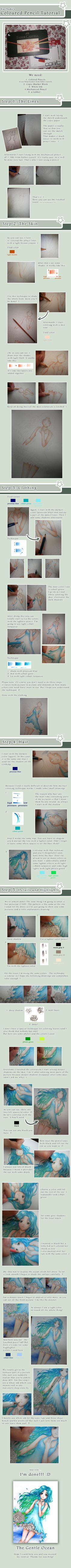 Color Pencil Tutorial  by *YueYuki~I am not one for anime and such but I really like her coloring technique