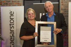 Marita Smuts receiving the award on behalf of both her and Heidi Arenstein.