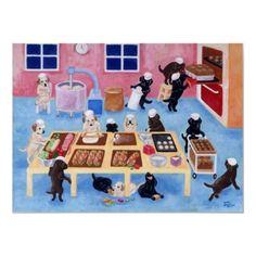 Labrador Bakery painted by Naomi Ochiai from Japan