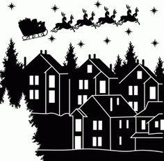 Silhouette Design Store - View Design #70829: christmas scene