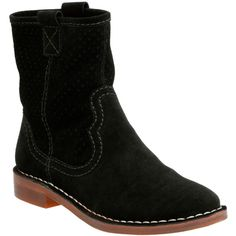 Clarks Women's Cabaret Stage Boots (386035301) ($85) ❤ liked on Polyvore featuring shoes, boots, black suede, cowboy boots, western boots, wide ankle boots, black bootie boots and black cowgirl boots