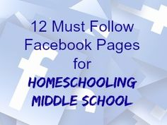 If you are looking for humor, learning ideas, resources and more, I'm happy to share 12 must follow Facebook pages for homeschooling middle school!