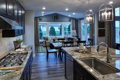 Schumacher Homes The Olivia B Kitchen to Media Room
