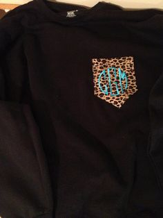 I love this!! Monogramed Pocket Sweatshirts