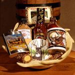 Deer hunter gift basket