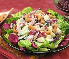 250cal. Cashew & Apple Salmon Salad Recipe with Chicken of the Sea Premium Skinless & Boneless Pink Salmon