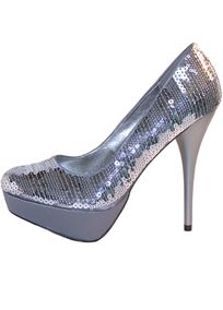 Shimmer and shine in these platform pumps covered in fashionable sequins.   Featuring a lightly cushioned insole with a 5 1/2 heel and 1 1/2 platform.  Manmade upper and sole.  Imported.