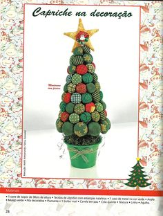 Yo-yo Christmas Tree #tutorial #diy