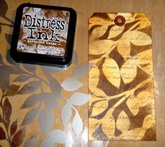 "Distress Ink Tags, this blog is full of beautiful tag ideas. So THAT""S what I can do with my Distress Ink!"