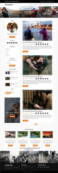 P Cube is clean and modern design 5in1 responsive bootstrap #HTML #theme for #photography #blogging and #bloggers website to live preview & download click on image or Visit