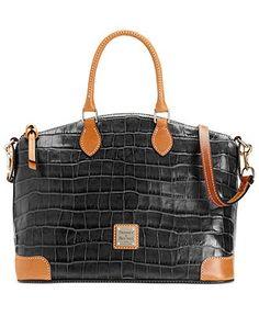 Dooney & Bourke Handbag, Croco Satchel - Dooney & Bourke - Handbags & Accessories - Macy's......  New Color:  Gray