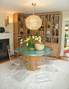 Tisch Baumstamm selber machen Esszimmer Einrichtung