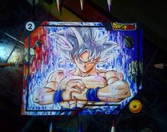 Card number 2 of the 'eternal series' made by me. Goku Ultra Instinct, Ball Drawing, Number 2, Dragon Ball Z, Drawings, Cards, Painting, Instagram, Artists