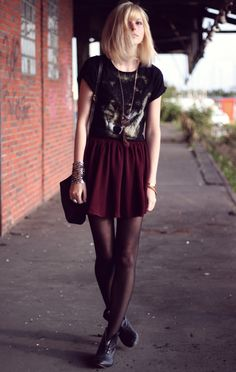 wolf shirt is... idk. but i love the skirt and graphic tee with the menswear…