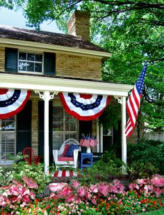 Fourth of July Patios, Happy Fourth Of July, July 4th, 4th Of July Celebration, 4th Of July Party, Porch Decorating, Summer Decorating, Holiday Decorating, Decorating Ideas