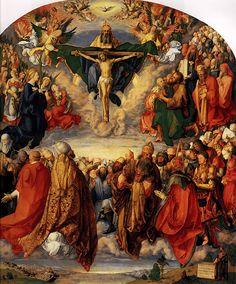 Albrecht Durer (1471-1528) Adoration of the Trinity Oil on lime panel 1511 135 x 123.4 cm