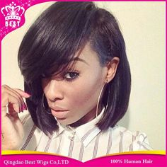83.71$  Watch here - http://aliaq7.worldwells.pw/go.php?t=32352657128 - 130 Density Full Lace Human Hair Bob Wigs For Black Women Human Hair Lace Front Wig With Bangs Brazilain Virgin Hair U Part Wig 83.71$