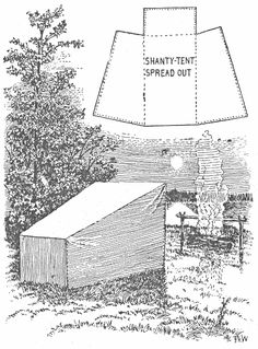 "Canvas ""shanty tent"" I bet you could make one from a large tarp. Winter Camping, Diy Camping, Tent Camping, Camping Hacks, Outdoor Camping, Camping Stuff, Camping Ideas, Glamping, Outdoor Gear"
