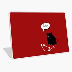 -  Form-fitting vinyl decal sticker.   -  Provides resistance to minor scratches.   -  Gloss finish provides intense, vibrant colors and sharp line detail.   -  3M Controltac decal sticker for easy, bubble-free installation.   -  Easily removable with no sticky residue.   -  Thickness <1/32 inch (<1mm).   -  Weight <5g . . #laptopskins  #laptopprotection  #vinyldecalsticker  #bitsofeverywhere  #blackcat  #burpingcat