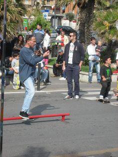 Skate e Paolo Pica a Ladispoli.