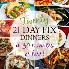 21 Day Fix Quick Dinners Minutes or Less!} (Muffin Healthy 21 Day Fix) Big Mac, Instant Pot Dinner Recipes, Healthy Dinner Recipes, Fixate Recipes, Skinny Recipes, Meal Recipes, Healthy Dinners, Easy Dinners, Quick Meals