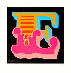 BEN EINE - 'E' ART CAR BOOT SALE SET - VERSO CONTEMPORARY ART http://www.widewalls.ch/artwork/ben-eine/e-art-car-boot-sale-set/