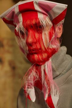Flags for facewear at Christopher Shannon