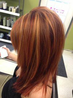 Beautiful copper hair! Hair by Trisha. Fringe salon Lennon MI