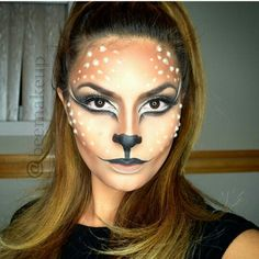 Ohhh deer… Supper Cute and sexy makeup. Ohhh deer… Supper Cute and sexy makeup. Deer Makeup, Animal Makeup, Deer Costume, Cowgirl Costume, Couple Halloween Costumes For Adults, Couple Costumes, Group Costumes, Deer Face Paint, Homemade Mermaid Costumes