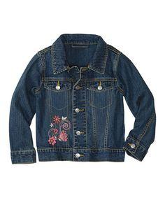 Look at this #zulilyfind! Hanna Anderson Vintage Denim Best Friend Jean Jacket - Toddler & Girls #zulilyfinds