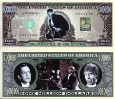 Dr. Jekyll & Mr. Hyde Million Dollar Novelty Money