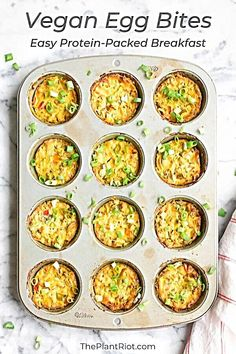 No egg but tofu! Whole Food Recipes, Cooking Recipes, Healthy Vegan Breakfast, Vegan On The Go Breakfast, No Egg Breakfast, Vegan Breakfast Casserole, Plant Based Breakfast, Breakfast Bites, Vegetarian Recipes