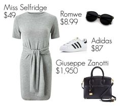 """SPRT"" by ivon-hernandez ❤ liked on Polyvore featuring Miss Selfridge, adidas and Giuseppe Zanotti"