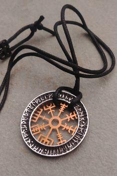 Pewter GREEK TROJAN SHIELD Pendant on Adjustable Black Cord Necklace Nickel Free