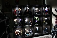 comic book statue custom built in cabinets - Google Search