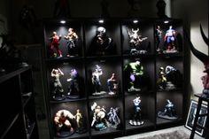 comic book statue custom built in cabinets - Google Search