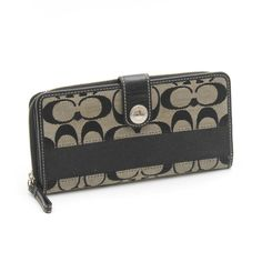 e4dc889db7bd $1 on EBTH Leather Wallet, Zip Around Wallet, Black Leather, Black Patent  Leather