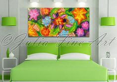 floral abstract art, landscape, large abstract painting, original art, spring painting, huge wall decor, colorful, flower painting, garden by juliaapostolova. Explore more products on http://juliaapostolova.etsy.com