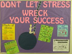 """""""Don't Let Stress Wreck Your Success"""" RA Bulletin Board"""