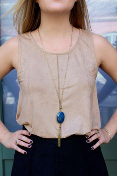 Suede Tank Top- Khaki color suede