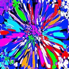 Dalhis Psychedelic Blue Abstracta;Saundramylesart