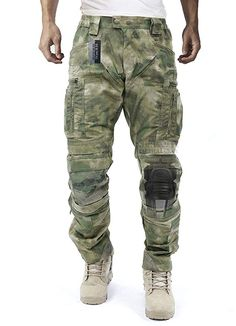 Survival Tactical Gear Men's Airsoft Wargame Tactical Pants with Knee Protection System & Air Circulation System (A-TACS AU, L) Mens Tactical Pants, Tactical Clothing, Tactical Gear, Tactical Survival, Tactical Gloves, Survival Equipment, Survival Gear, Wilderness Survival, Survival Weapons